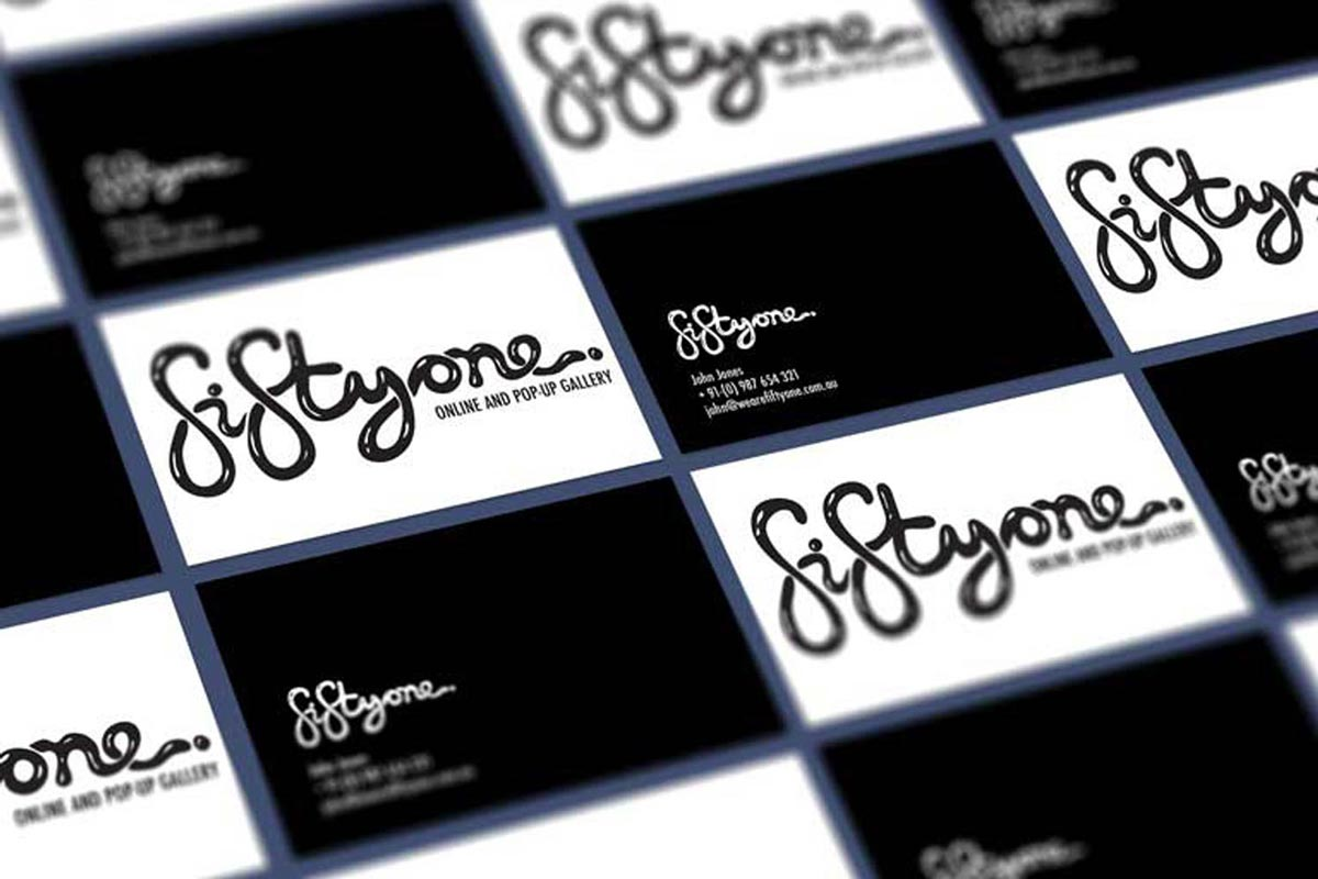 Sydney gallery business cards