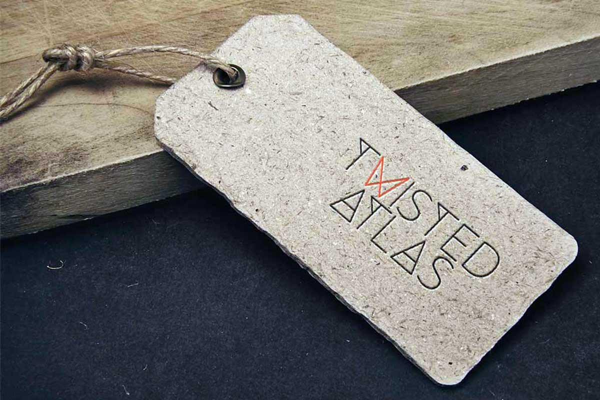 Modern Travel luggage tag