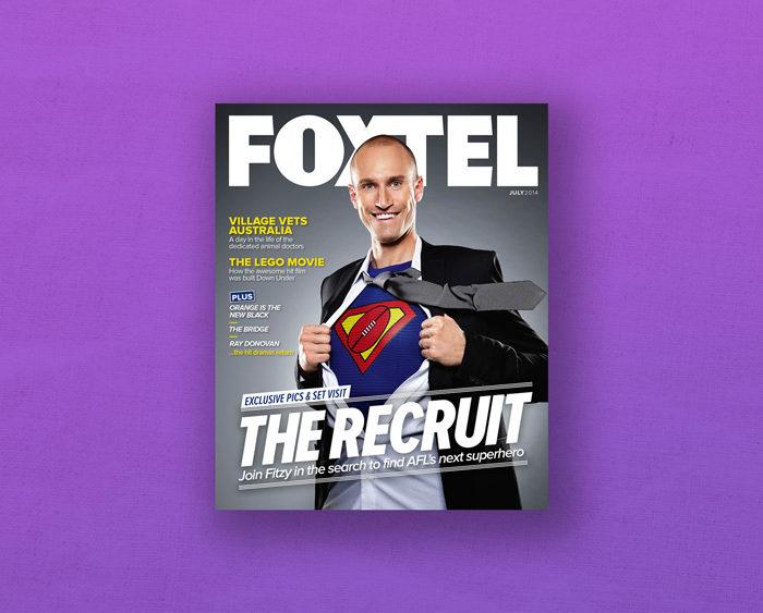 FOXTEL TV magazine cover recruit fitzy