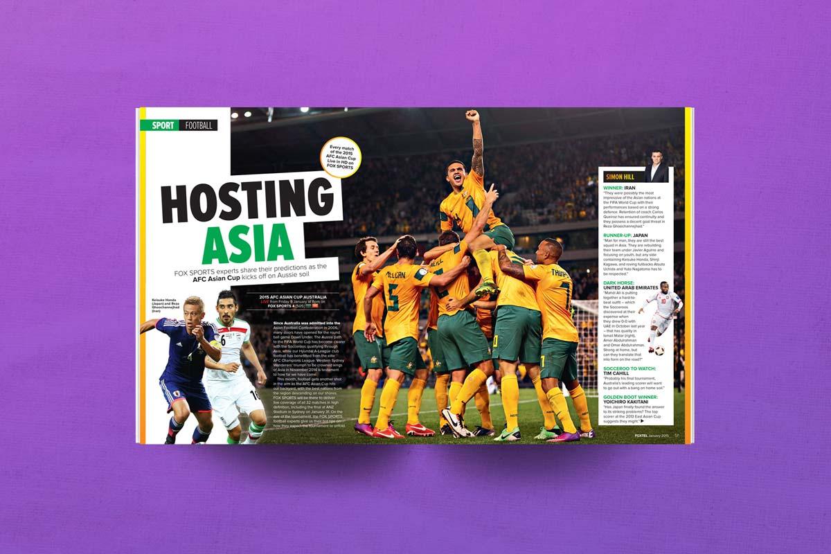 FOXTEL magazine football asian cup