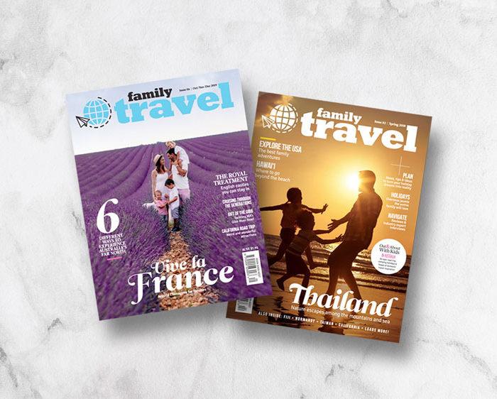 Family Travel Magazine covers
