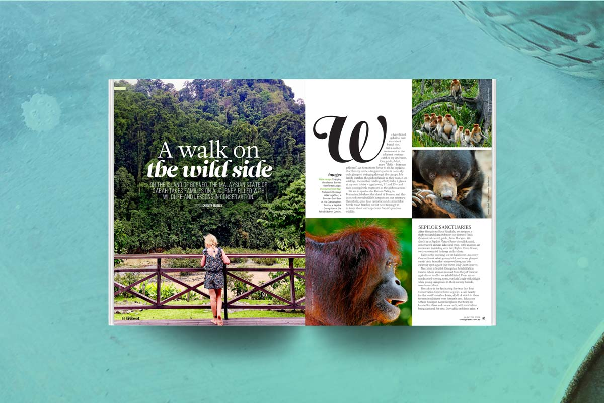 Family Travel Borneo story