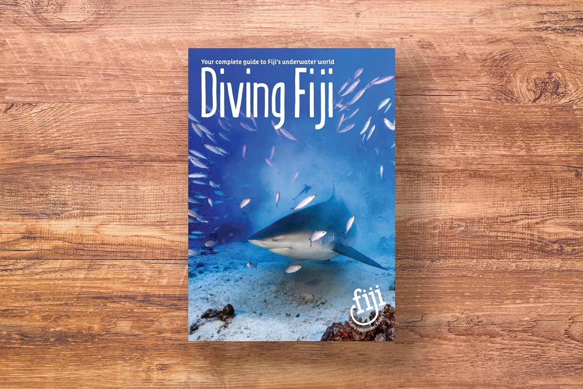 Fiji Diving brochure shark cover