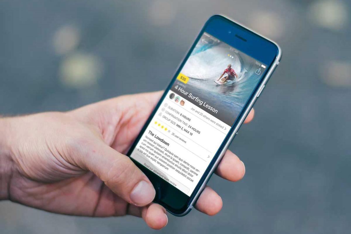 Backpacker travel app surfing