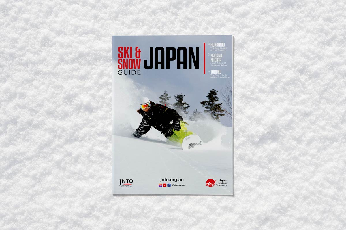 Japan Tourism Ski and Snow Guide cover