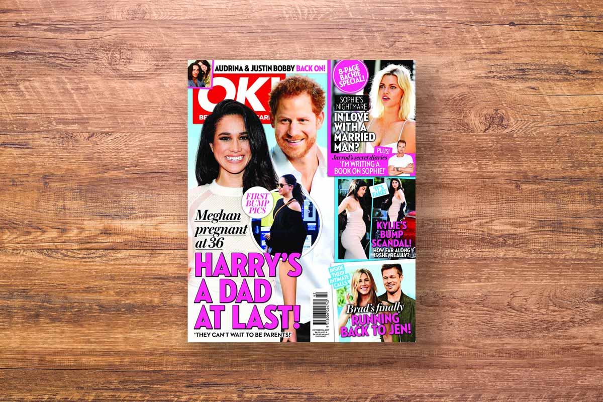 OK magazine cover harry megan