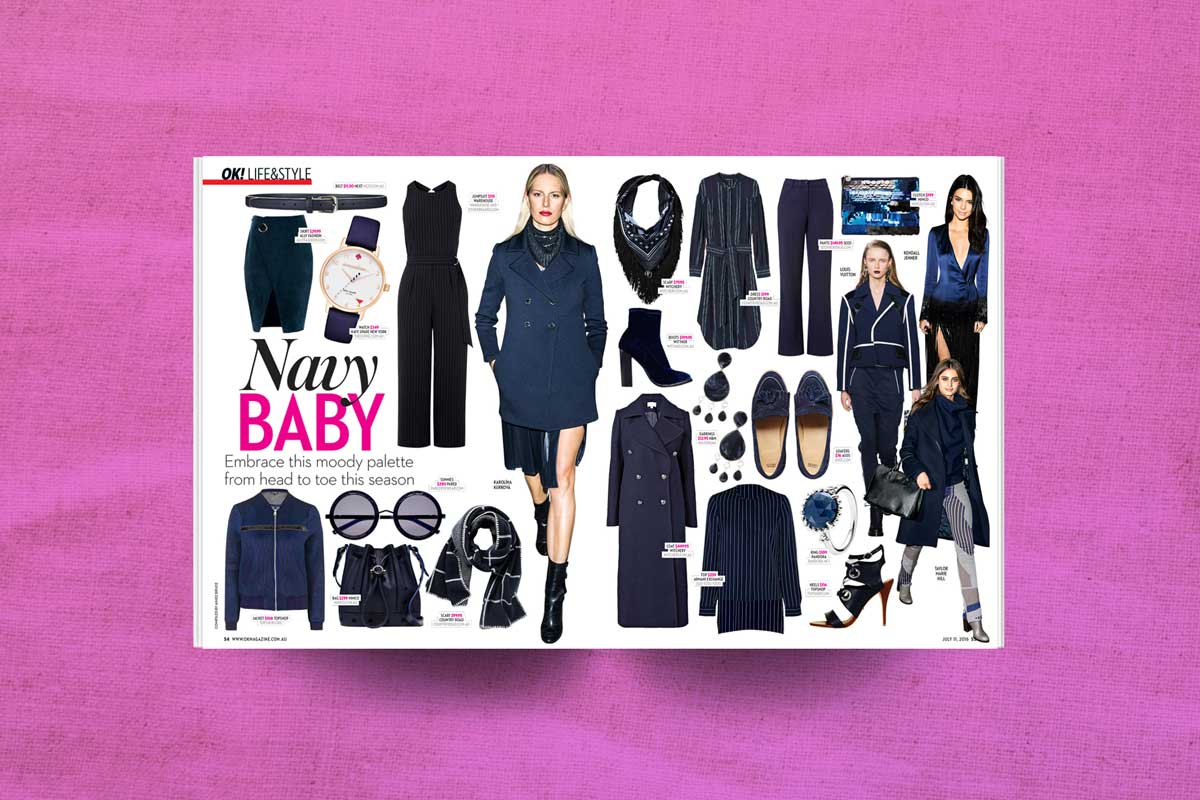 OK magazine navy clothing trends