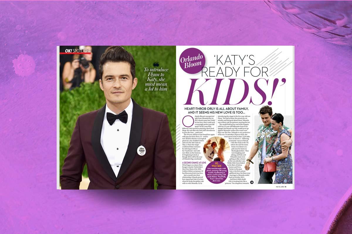 OK magazine orlando bloom katy perry
