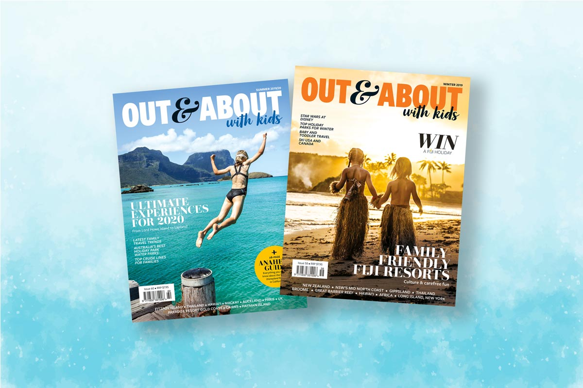 Out And About With Kids magazine covers
