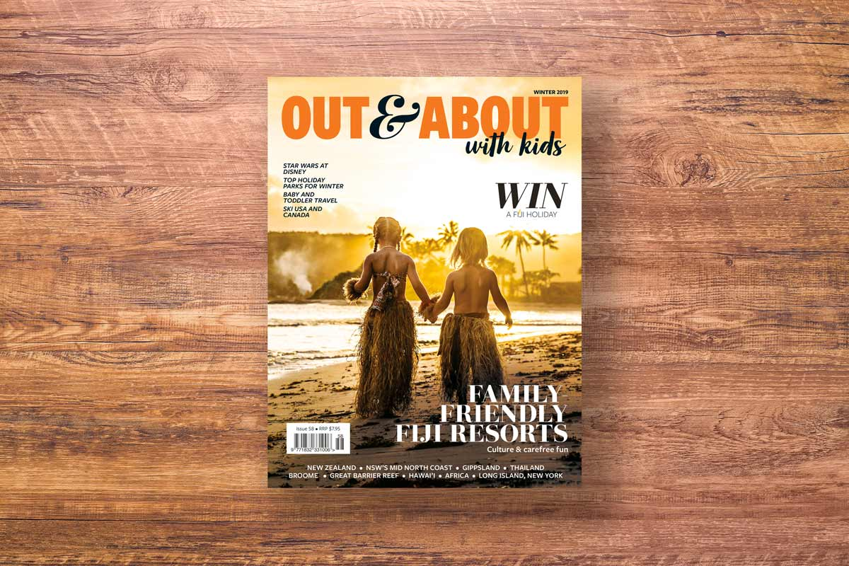 Out And About With Kids magazine fiji cover