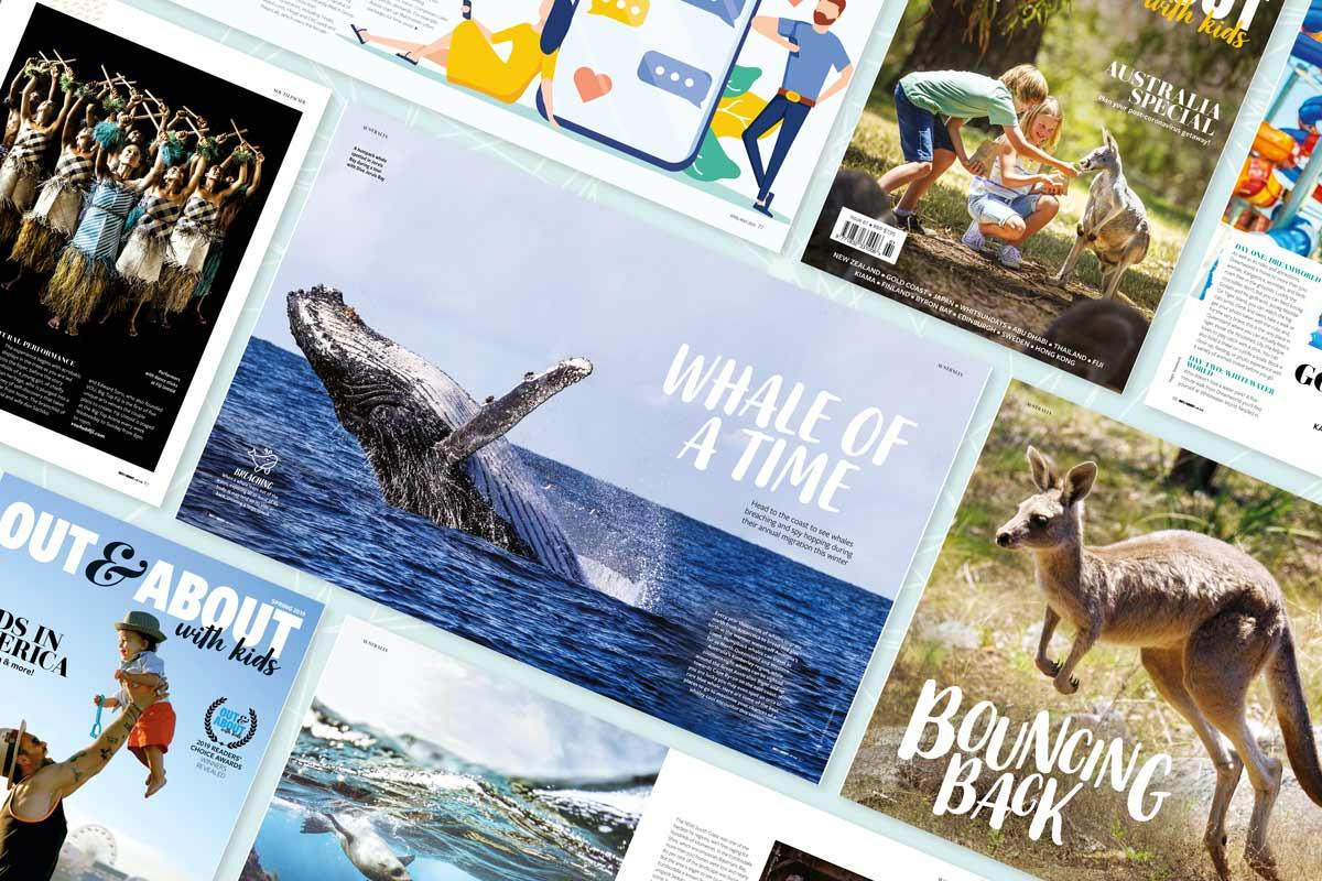 Kids travel magazine various features