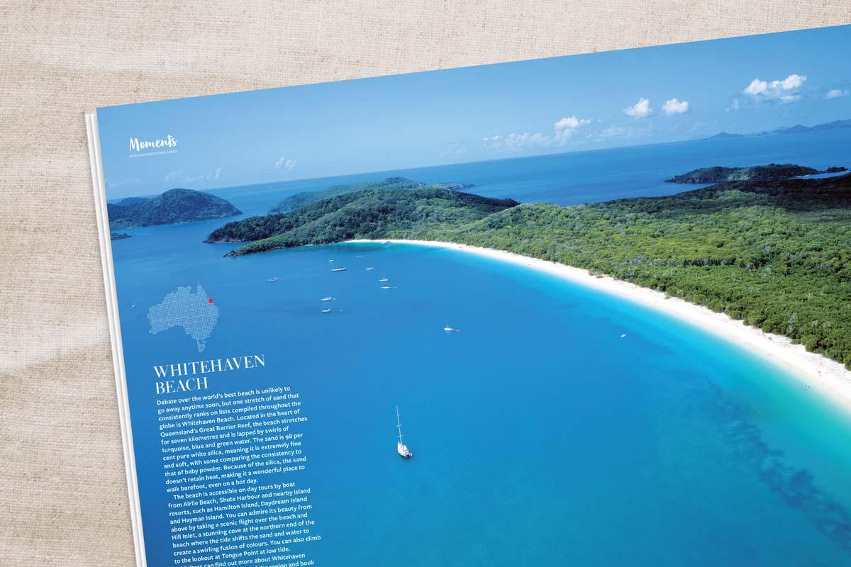 Kids travel magazine Whitehaven beach story