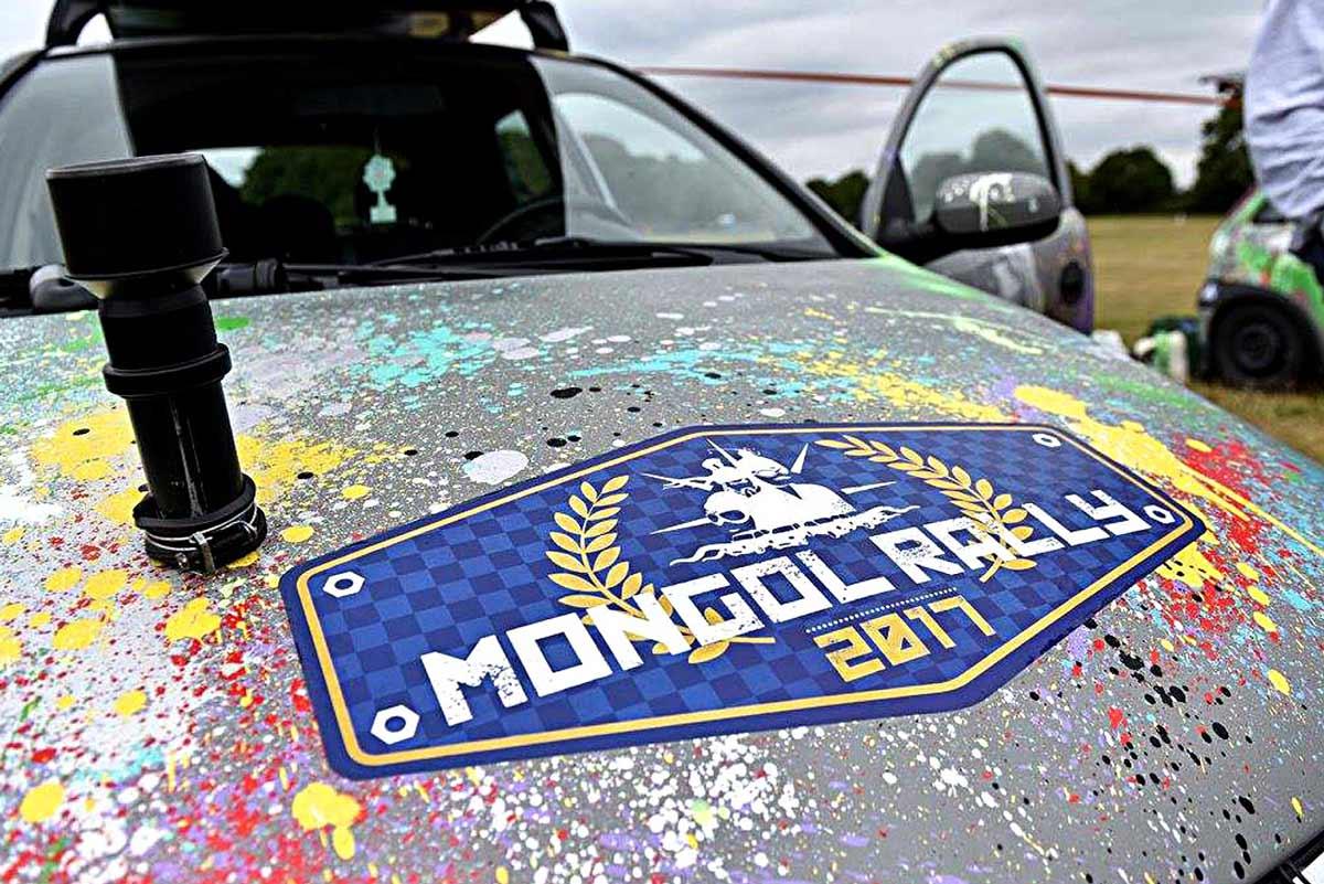 The Adventurists International adventure races car sticker
