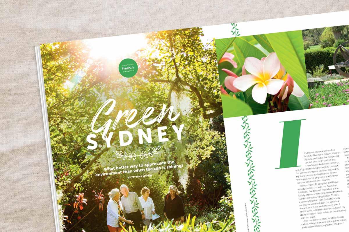 Magazine Sydney gardens story