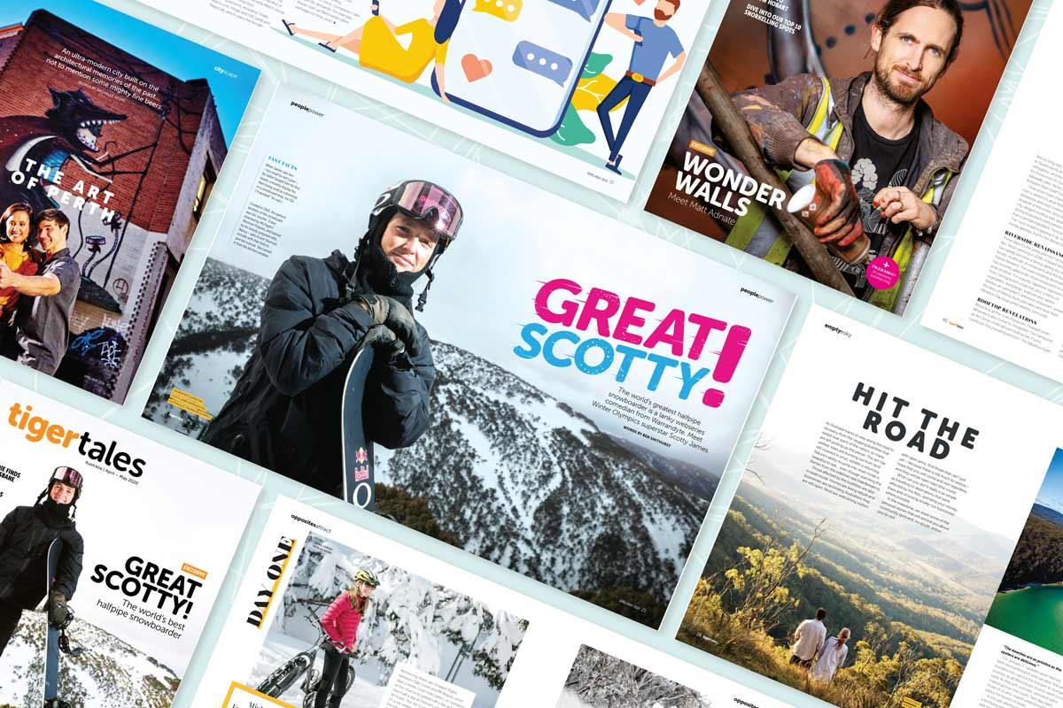 Tigertales TigerAir inflight magazine various spreads
