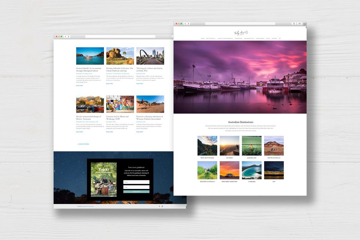 Regional Australia travel website destinations states