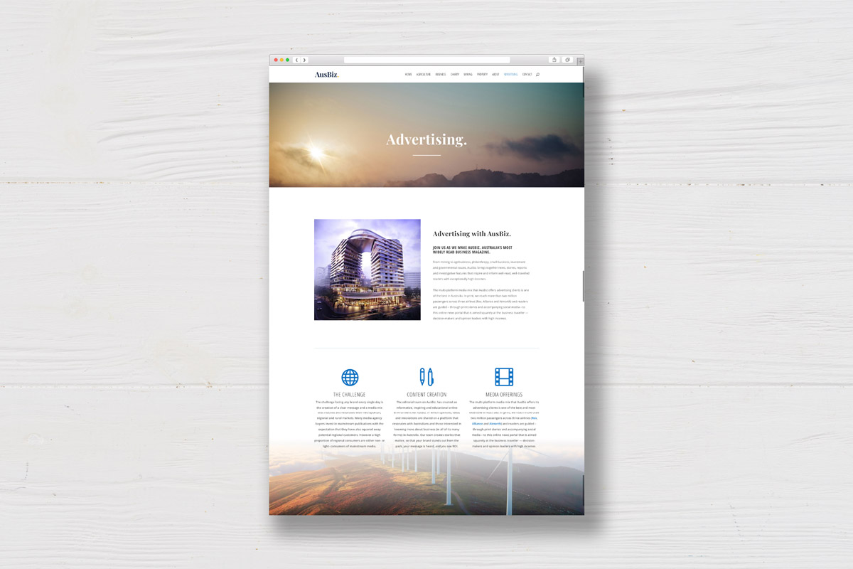 Australian business website advertising