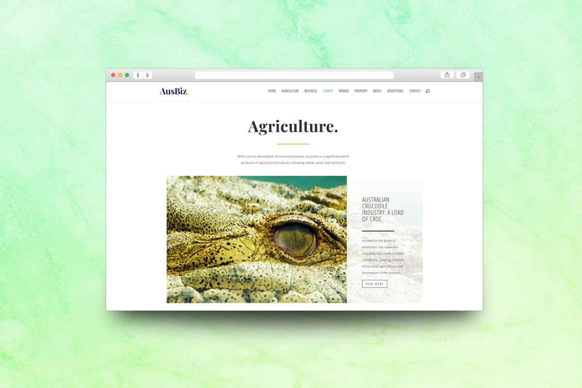Australian business website agriculture