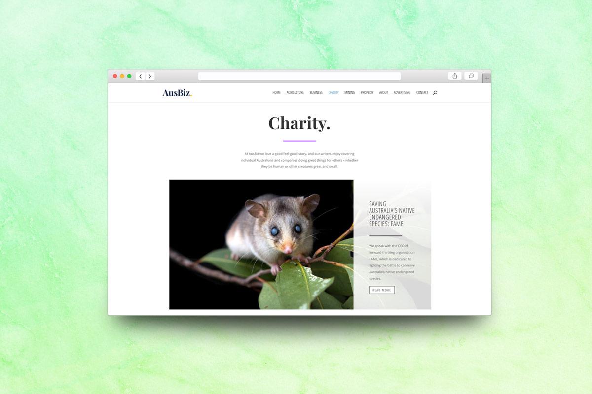 Australian business website charity