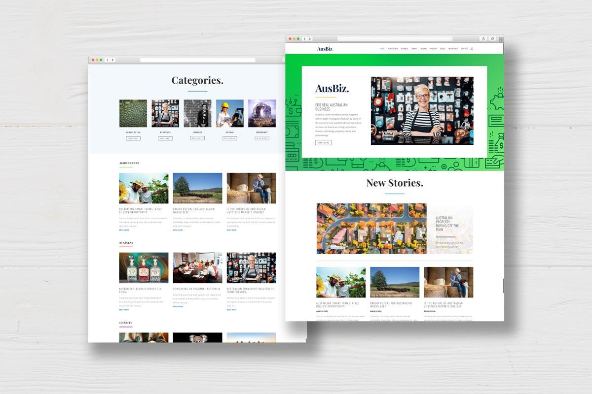 Australian business website homepage