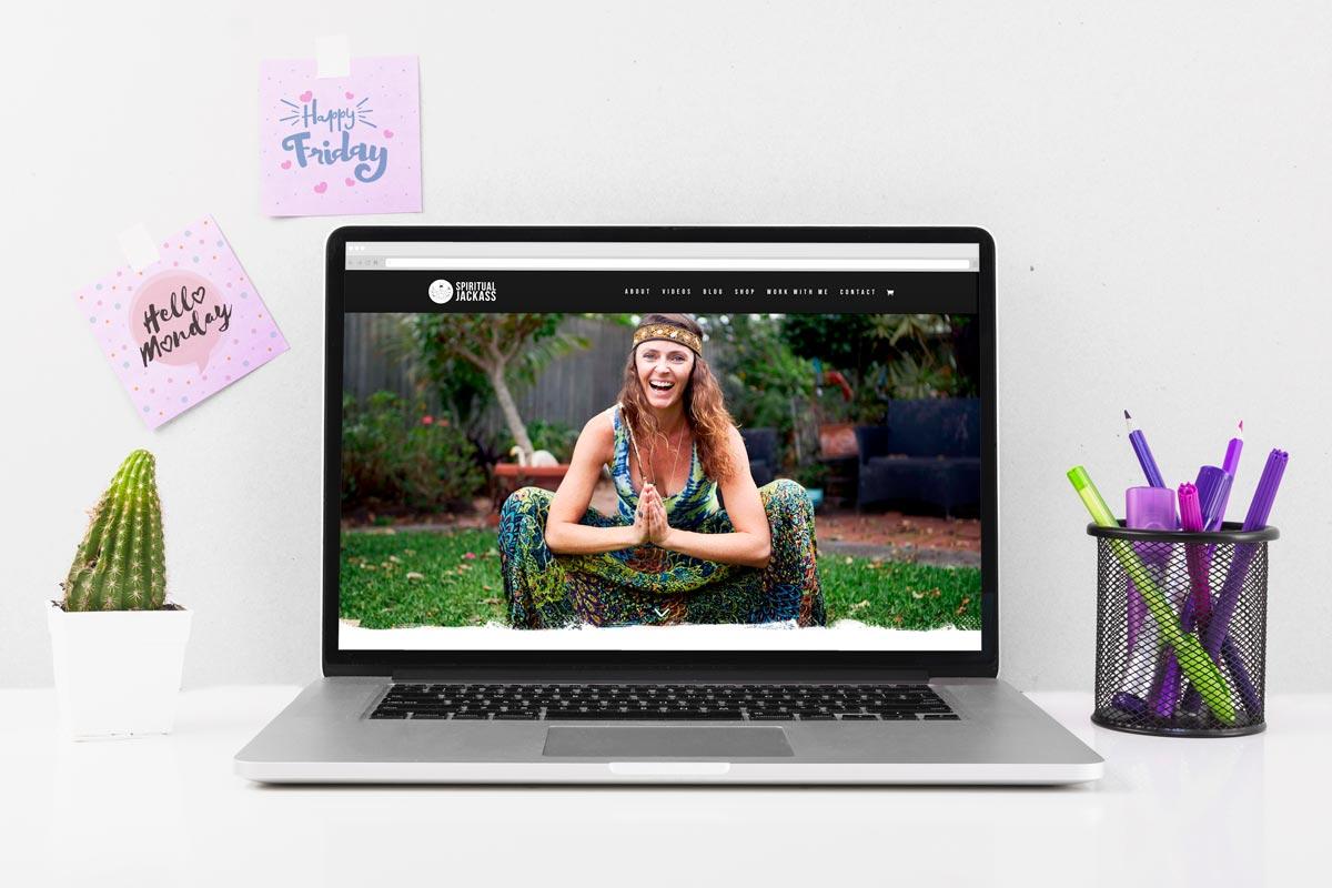 personal development website laptop